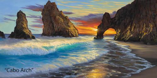 Walfriod Garcia Art Cabo Arch at Wyland Gallery Sarasota