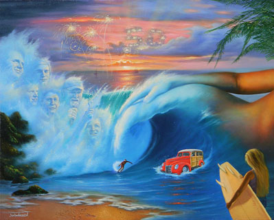 Jim Warren Beach Boys - Wyland Gallery Sarasota