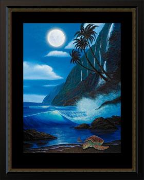 Wyland Blue Moon Tranquility - Wyland Gallery Sarasota