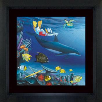 Wyland Donal Diver - Wyland Gallery Sarasota
