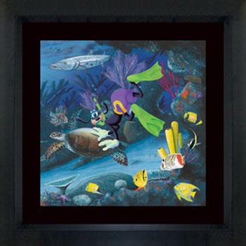 Wyland Goofy Diver - Wyland Gallery Sarasota