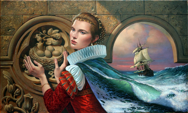 Nostalgia III by Michael Cheval at Wyland Galleries of the Florida Keys
