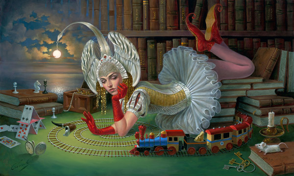 Train of Thought by Michael Cheval at Wyland Galleries of the Florida Keys