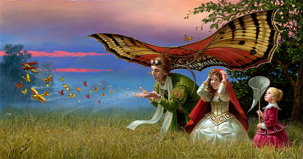 Promises of Parting Summer by Michael Cheval at Wyland Galleries of the Florida Keys