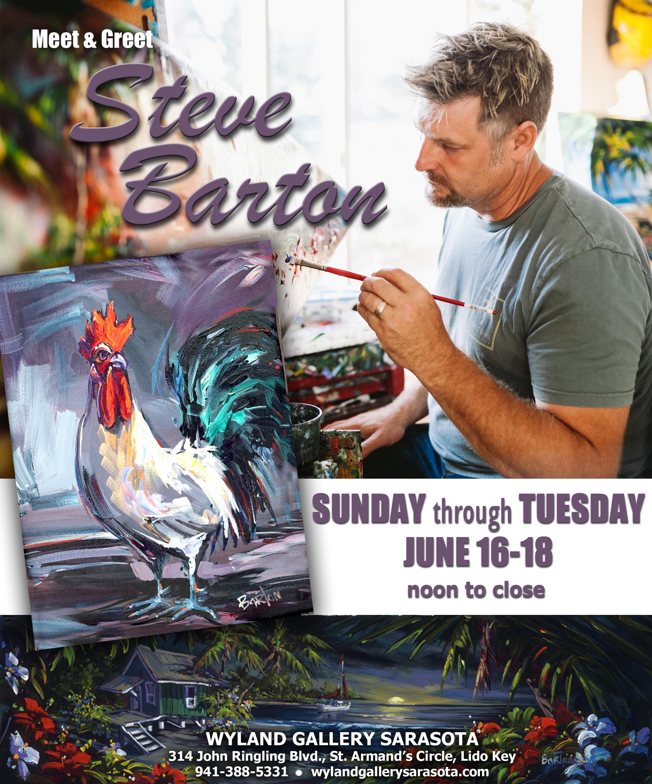 Steve Barton Art Show at Wyland Sarasota