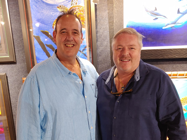 Wyland Galleries of the Florida Keys Owners Jay Shaffer and Guy Vincent
