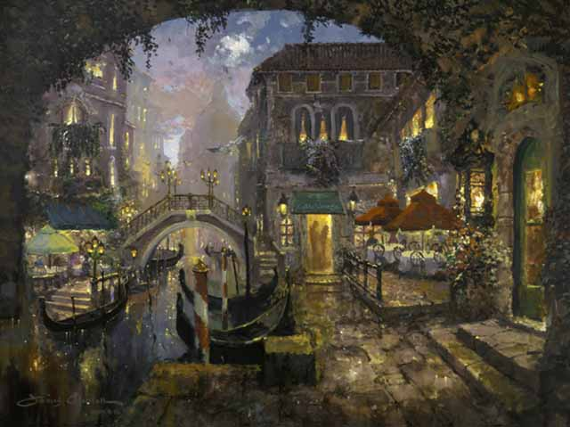 Cafe Venezia by James Coleman at Wyland Galleries of the Florida Keys