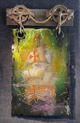 Last Sail by Krystiano DaCosta at Wyland Galleries of the Florida Keys