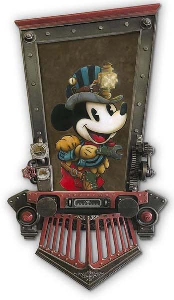 Mickey the Conductor- Krystiano DaCosta Art Wyland Galleries of the Florida Keys