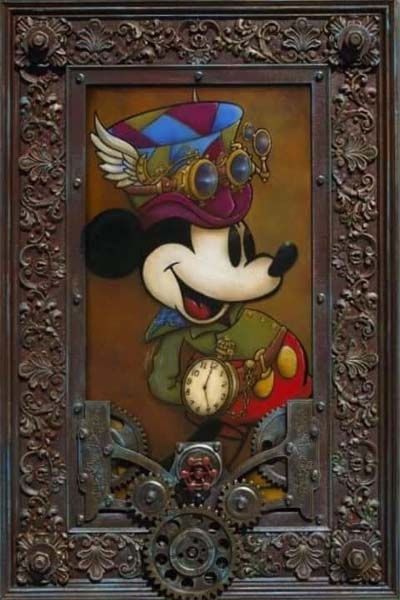 Mickey through the Gears- Krystiano DaCosta Art Wyland Galleries of the Florida Keys