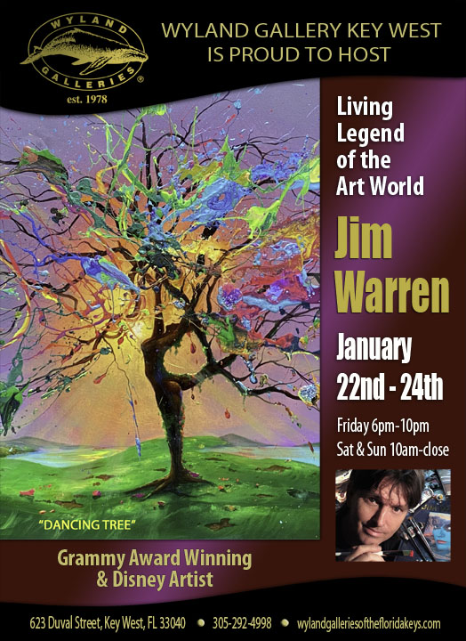 Artist Show with Jim Warren at Wyland Gallery Key West
